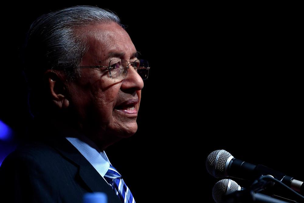 Prime Minister Tun Dr Mahathir Mohamad (pix)