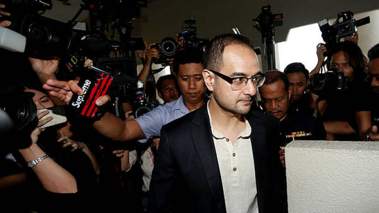 Riza Aziz, stepson of former prime minister Datuk Seri Najib Abdul Razak, arrives at a court in Kuala Lumpur, July 5, 2019. — Reuters