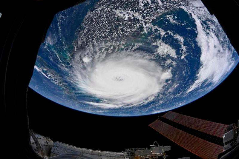 Hurricane Dorian is shown from the International Space Station more than 200 miles above the earth as it churns in the north-western Caribbean near the United States mainland in this photo taken September 2, 2019. -Reuters