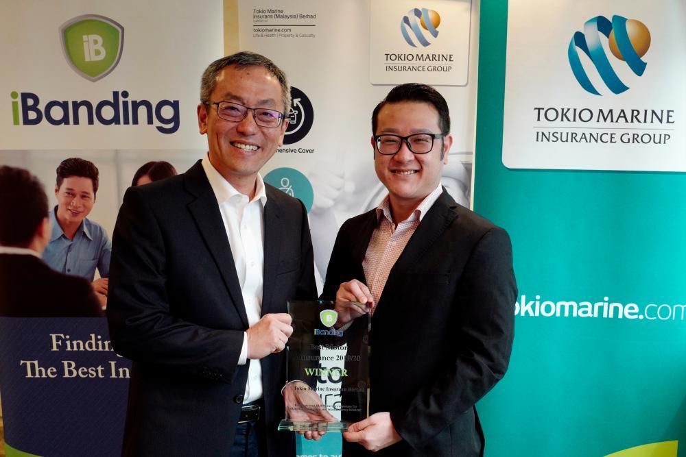 From left: Tokio Marine Insurans (Malaysia) Bhd CEO Ng Hang Ming and iBanding Services CEO Meng Chau Chia.