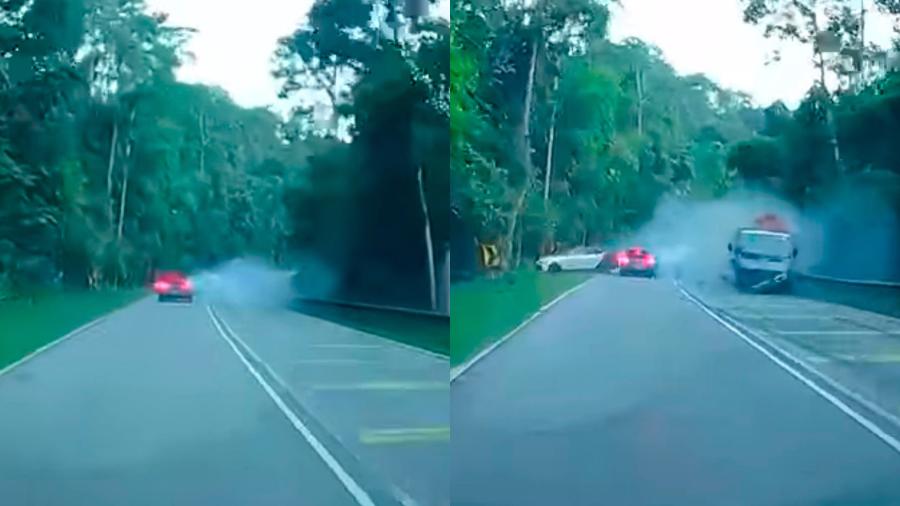 4 injured in road collision at Jalan Ulu Yam