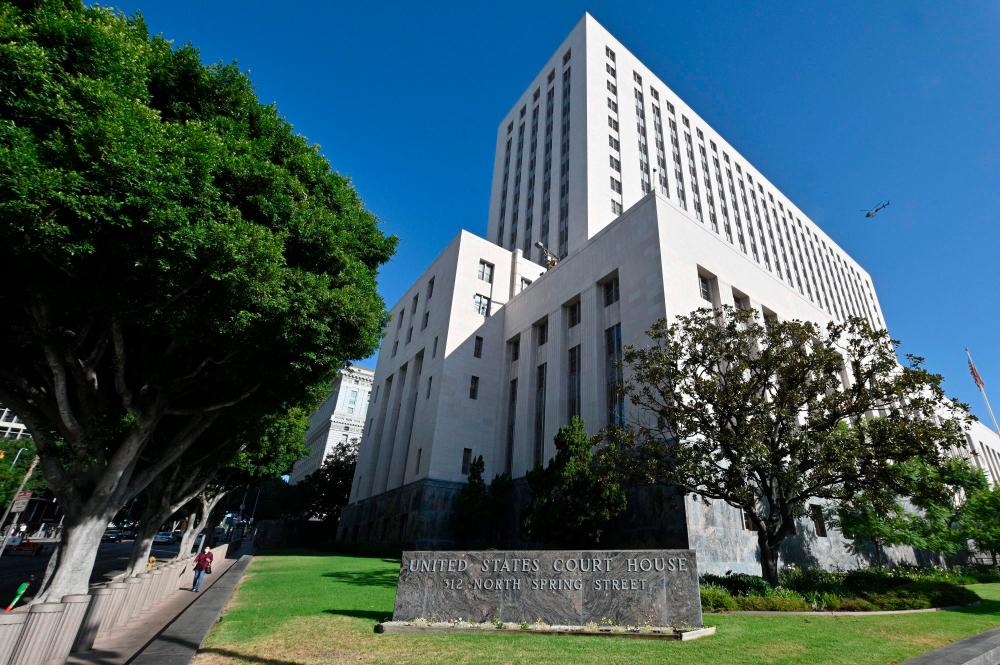 A view of the US Courthouse building in Los Angeles, California, on the first day of a pediatric lawsuit against Monsanto brought by a woman on behalf of her young son who developed a rare and severe form of cancer after being exposed to the weed killer Roundup, September 13, 2021. AFPpix