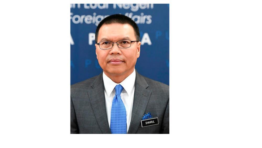 Foreign Ministry secretary-general Datuk Seri Muhammad Shahrul Ikram Yaakob (pix)