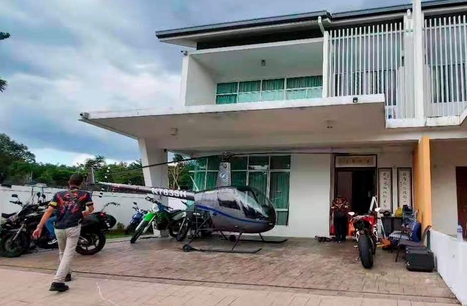 Chopper in house parking space leads to altercation