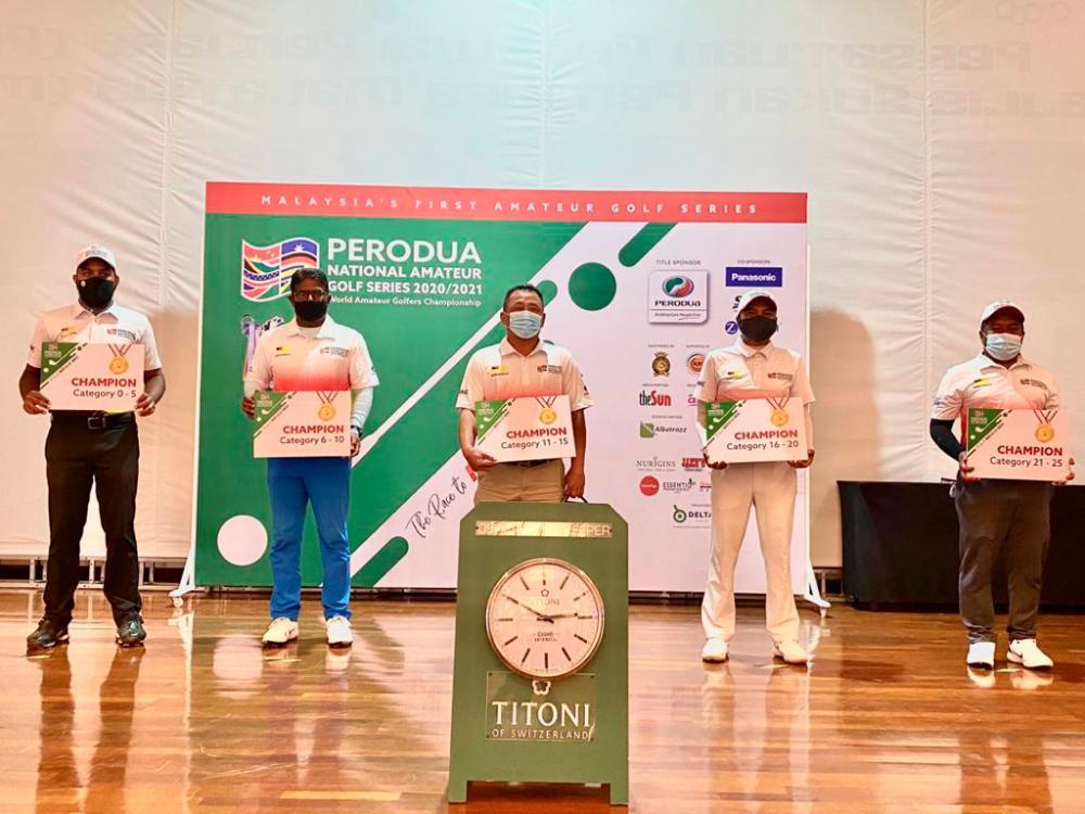 The Negri Sembilan winners of the Perodua National Amateur Golf Series.
