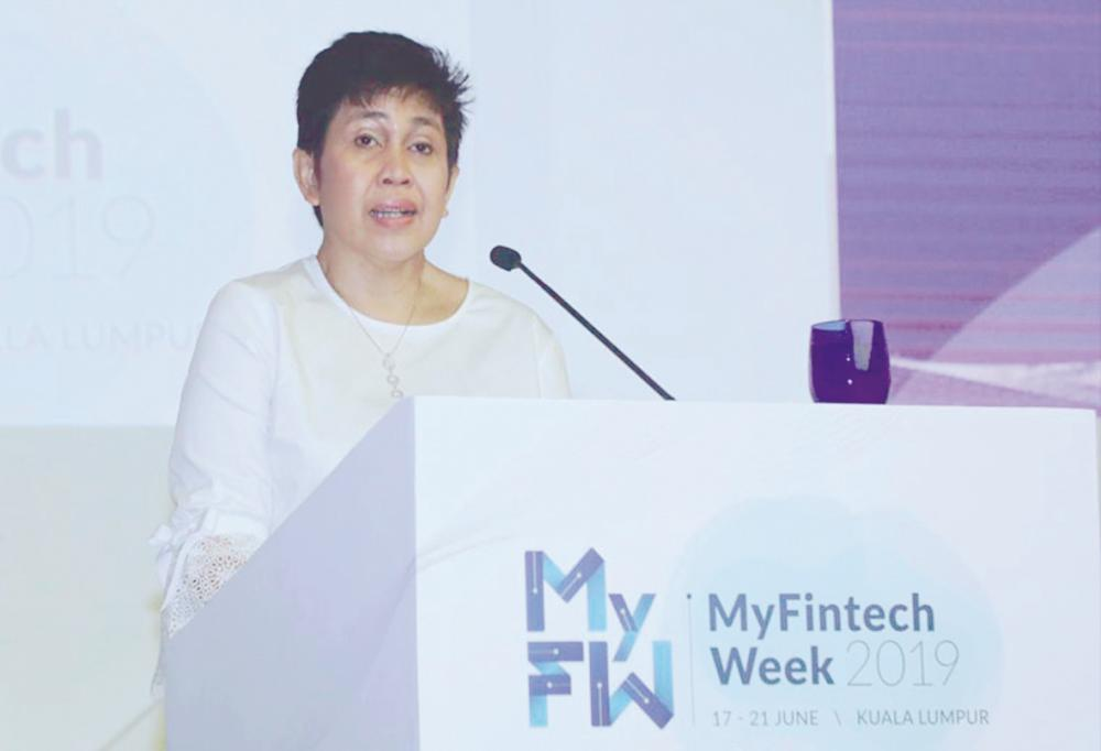 Nor Shamsiah delivering her speech at the launch of MyFintech Week 2019 in Kuala Lumpur today. – Bank Negara Malaysia website pix